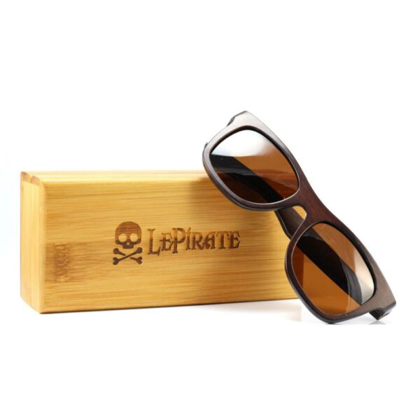 f225c8478fa Le Pirate Polarized Bamboo Glasses Bubinga Brown Γυαλιά Ηλίου από Μπαμπού